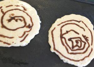 Cinnamon Roll Pancake Cooking Pancake