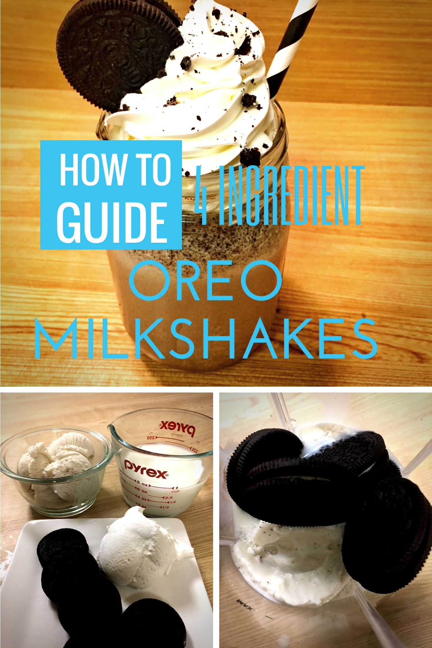 4 ingredient oreo milkshake