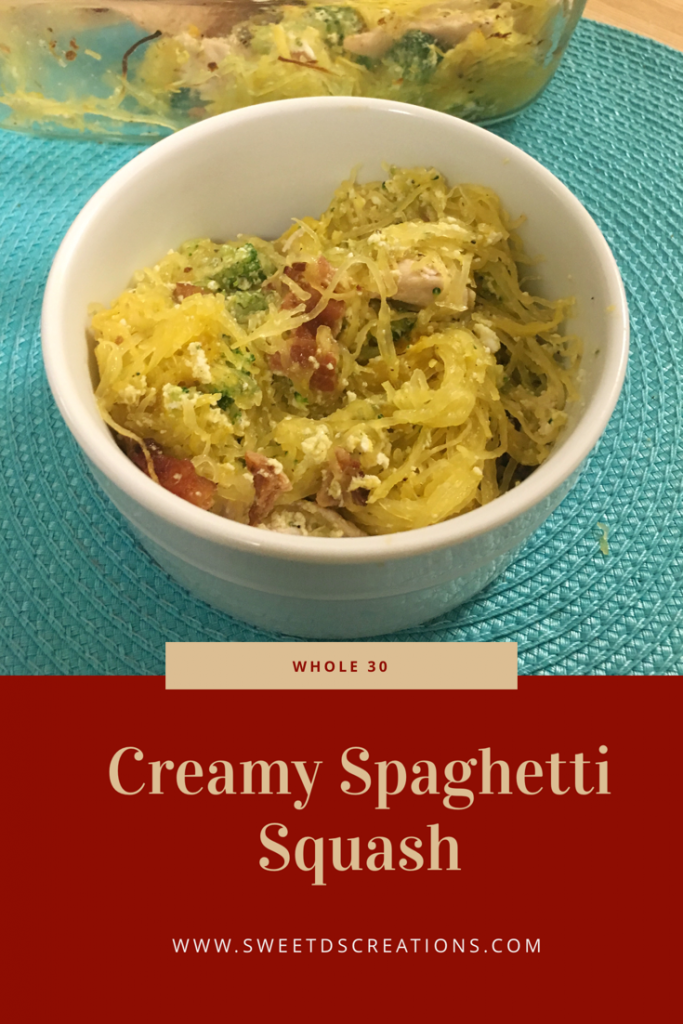 Creamy Spaghetti Squash Whole 30